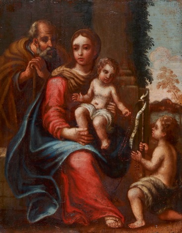hl familie mit johannesknaben by girolamo genga