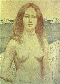 jeune fille aux cheveux roux by alexandre seon