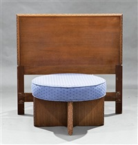 stool and headboard by frank lloyd wright