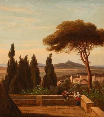 an italian family enjoys the view by peter (johann p.) raadsig