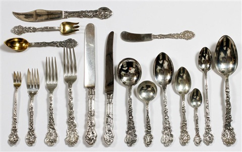 gorham versailles sterling flatware set 460 pieces