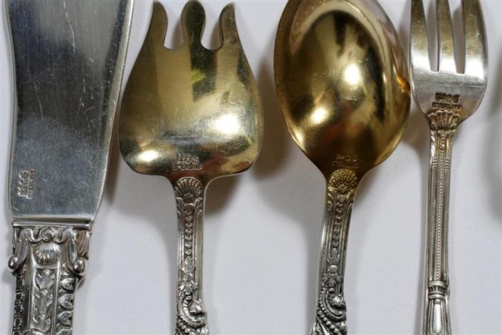 gorham 'versailles' sterling flatware set, 460 pieces
