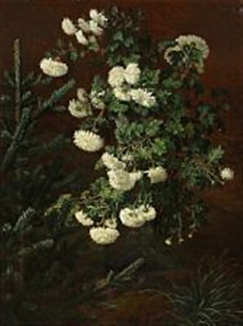 white chrysanthemum by otto didrik ottesen