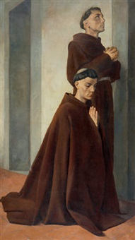 l'angelus – due novizi francescani by maria bacci-baccio