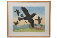 five crows over a maine farm by anne arnold