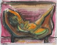 akt auf chaiselongue by johann georg müller