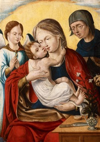the holy family with an angel by dutch school-southern (16)