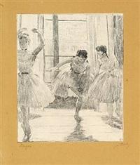 avant la classe, danseuses dans une salle d'exercice from the series quinze lithographies by edgar degas