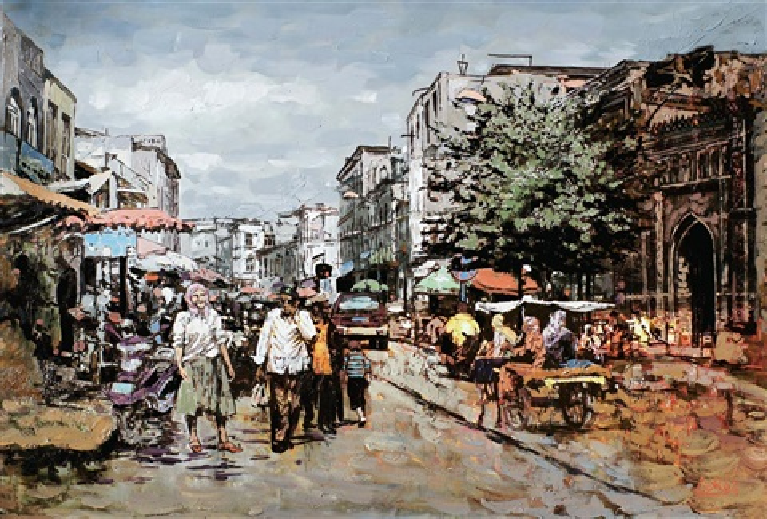 喀什葛尔老街之一 kashi ge er street by yalikun hazi