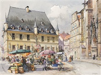 rathaus und markt in osnabrück by detlev nitschke