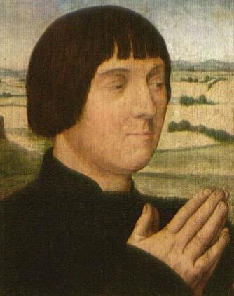 stifterbildnis vor landschaftschintergrund by hans memling
