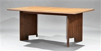 extension dining table by frank lloyd wright
