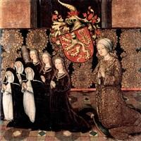 bildnis einer stifterin mit ihren acht töchtern by jan (the master of cappenberg) bagaert