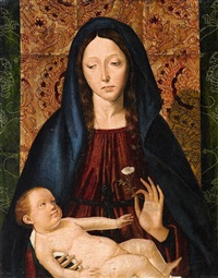 the virgin and child by josse lieferinxe