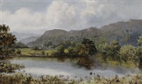 church pool at betws-y-coed by william henry mander