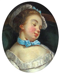 a sleeping girl by jean françois gilles colson