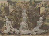 views of fountains (12 works) by william henri toms