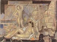 drei weibliche akte by fritz arlt