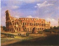 blick auf das colosseum by domenico monacelli
