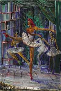 the ballet dancers by jewel alma woodard simon