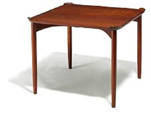 finn juhl fj 55 a very rare games table made by cabinetmaker niels vodder h 69 cm w 90 cm l 90 cm