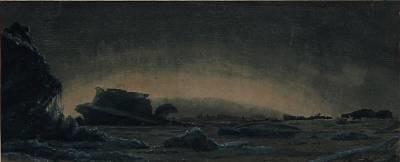 quiet evening at a greenlandic coast by carl jens erik c rasmussen