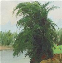 riverside bamboos by wu guanzhong