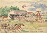 county fair horse racing by waldo peirce