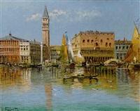 ansicht von venedig mit dem dogenpalast by l. fabretto