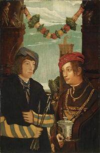 sebastian und maria magdalena by hans wertinger