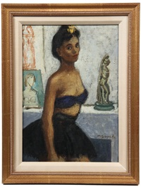 portrait of a caribbean dancer by moses soyer