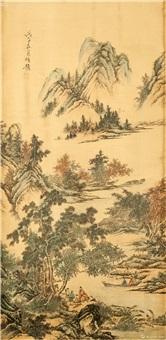 人物山水画 by ren yi