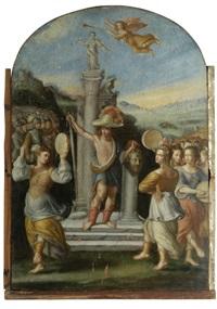 der triumph des david by angelo caroselli