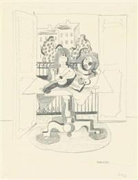 stilleben mit violine by rudolf ausleger