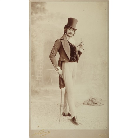 man with tophat by nadar