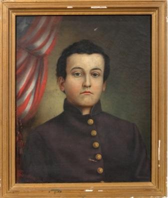civil war soldier by franklin c courter