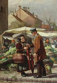 meeting at the market by christian pram henningsen