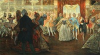 struensees court ball in the hofteateret by valdemar neiiendam