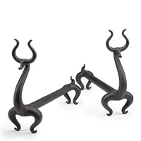 fire deer andirons (pair) by russel wright