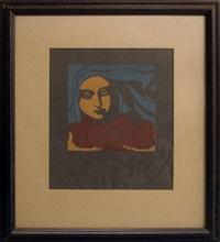 female head with roses by koloman (kolo) moser