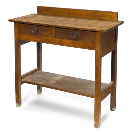 two drawer server by gustav stickley