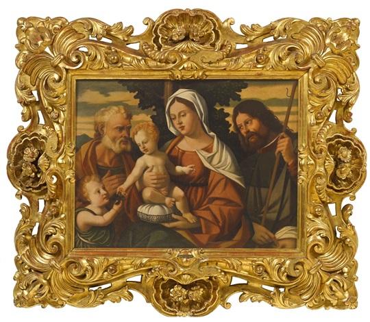 madonna mit kind, johannesknaben, hl. joseph und hl. rochus by giovanni bellini