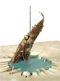 vela,, projekt einer skulptur für die promenade in bari by arnaldo pomodoro