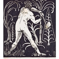 hell of war; i; ii (from song of the broad axe) (3 works) by wharton h. esherick