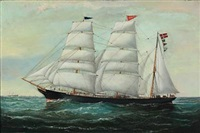a ship portrait of norden af tvedestrand. cap. d. arnoldsen by william howard yorke