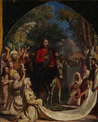 jesus in jerusalem on palm sunday by carl jens erik c rasmussen