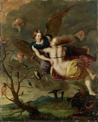 die götterbotin iris rettet dido mit hilfe günstiger winde aus der meeresflut by guillaume forchondt the elder