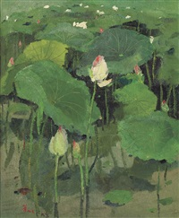 lotus flowers by wu guanzhong
