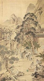 文会图 by leng qian