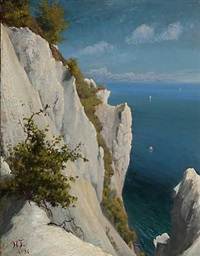summer day at møns klint, denmark by hans christian fischer